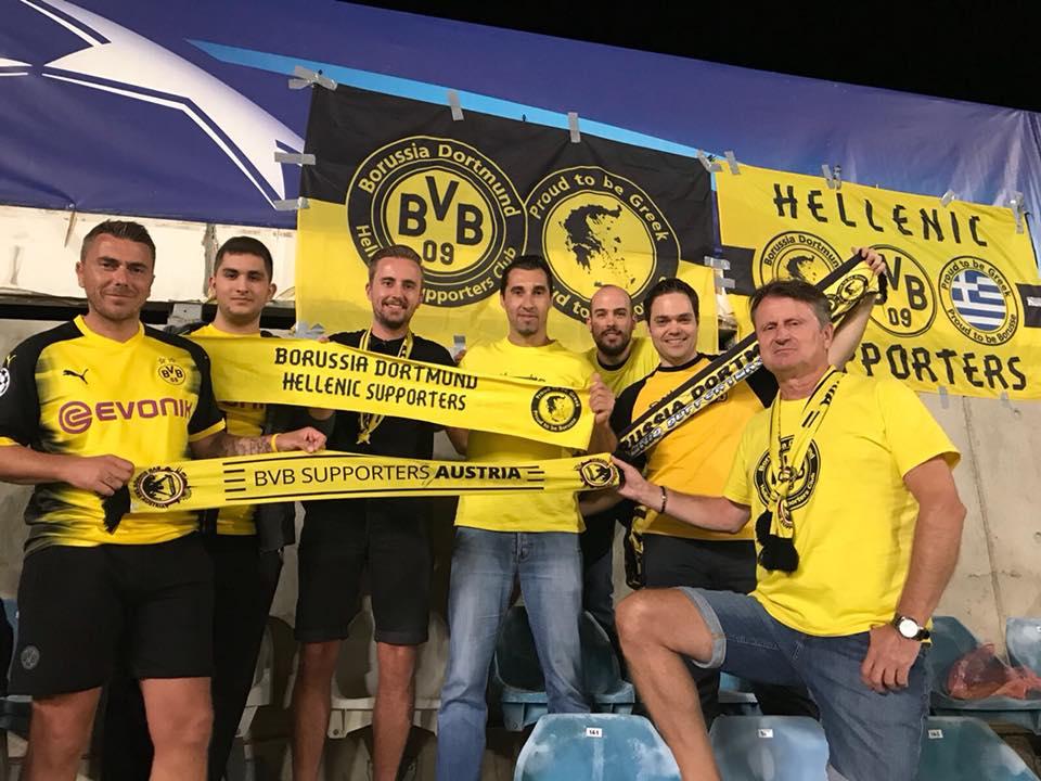 Με φίλους από το BVB Supporters Austria μέσα στο ΓΣΠ
